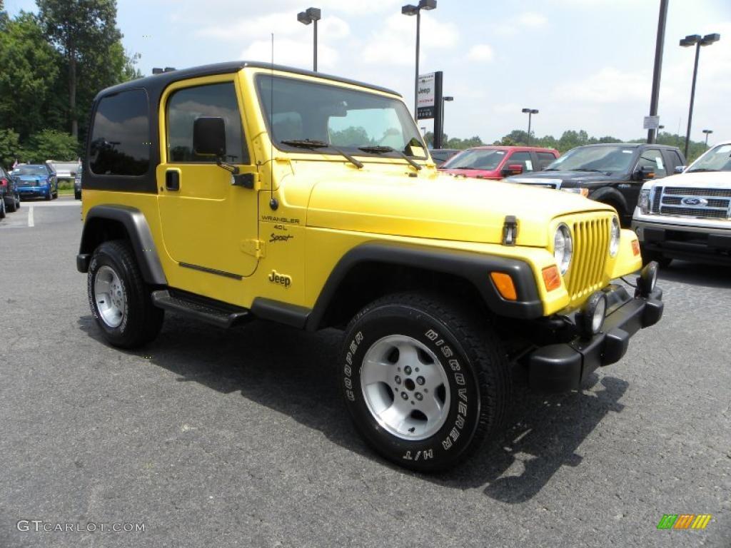 2000 solar yellow jeep wrangler sport 4x4 32177891 gtcarlot com car color galleries