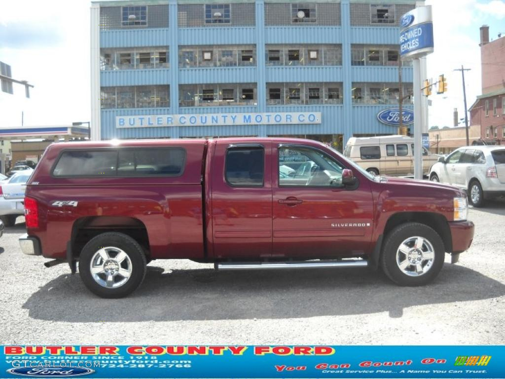 2009 Silverado 1500 LTZ Extended Cab 4x4 - Deep Ruby Red Metallic / Light Cashmere photo #1