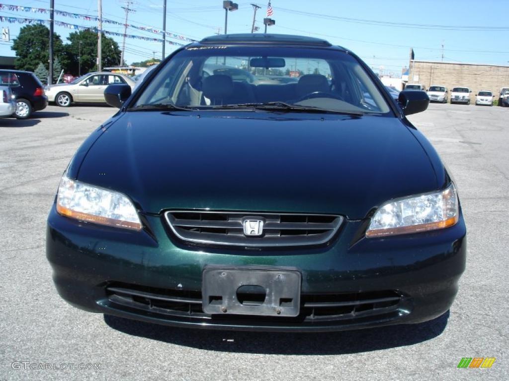 1999 dark emerald pearl honda accord ex v6 coupe 32178261 photo 4 car color. Black Bedroom Furniture Sets. Home Design Ideas