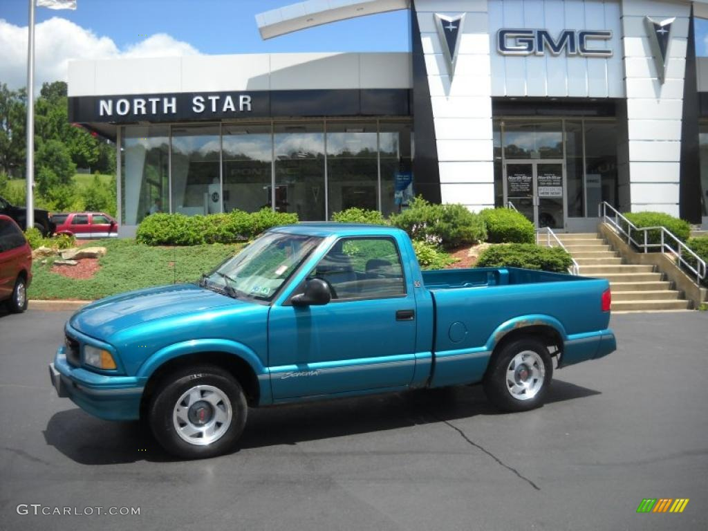 1995 bahama blue metallic gmc sonoma sls regular cab. Black Bedroom Furniture Sets. Home Design Ideas