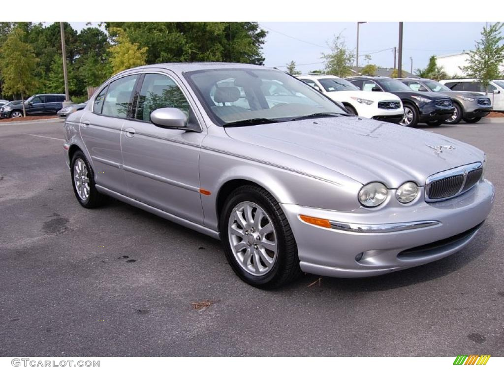 Platinum Silver Metallic Jaguar X Type