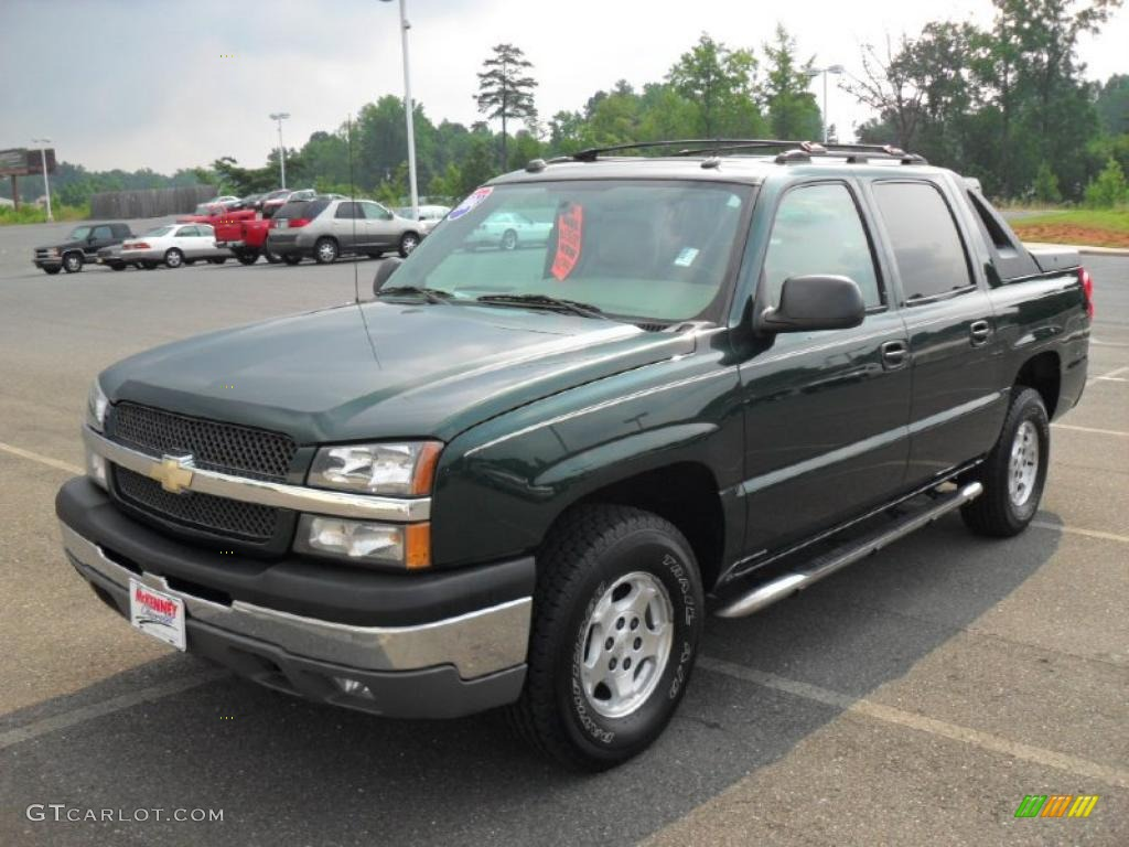 2004 dark green metallic chevrolet avalanche 1500 32178538 car color galleries. Black Bedroom Furniture Sets. Home Design Ideas