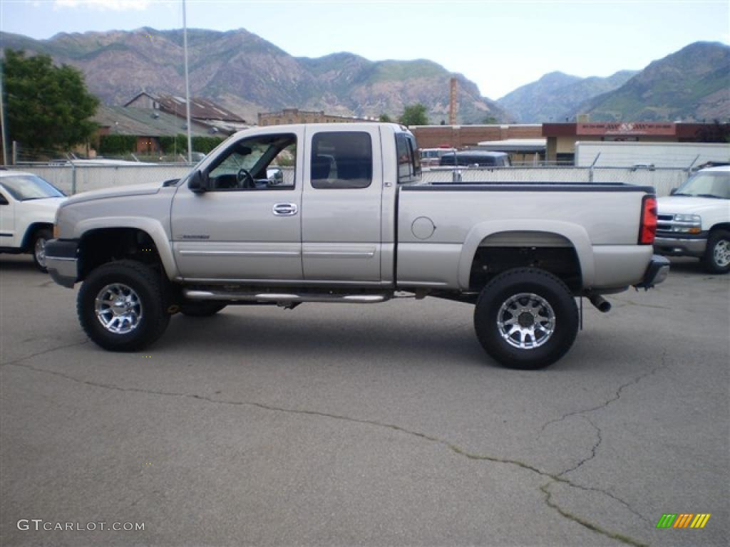 2005 silver birch metallic chevrolet silverado 2500hd ls extended cab 4x4 32178600 gtcarlot. Black Bedroom Furniture Sets. Home Design Ideas
