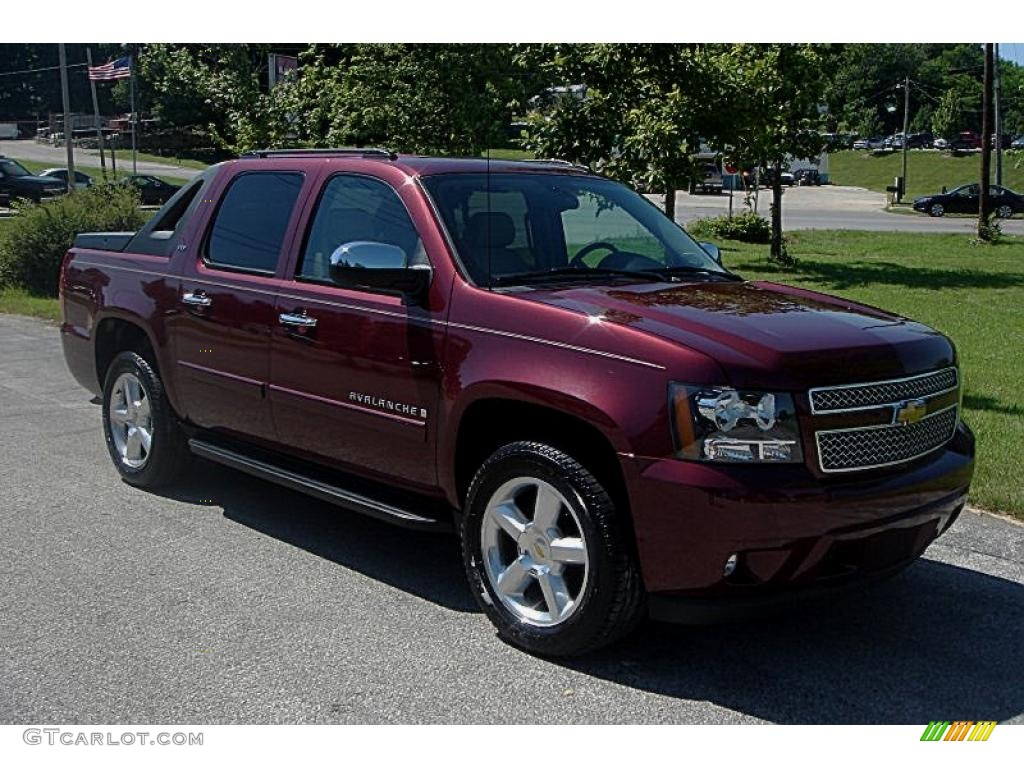 2008 deep ruby red metallic chevrolet avalanche ltz 4x4. Black Bedroom Furniture Sets. Home Design Ideas