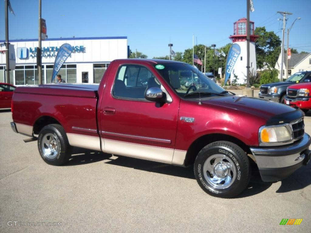 1997 dark toreador red metallic ford f150 xlt regular cab. Black Bedroom Furniture Sets. Home Design Ideas