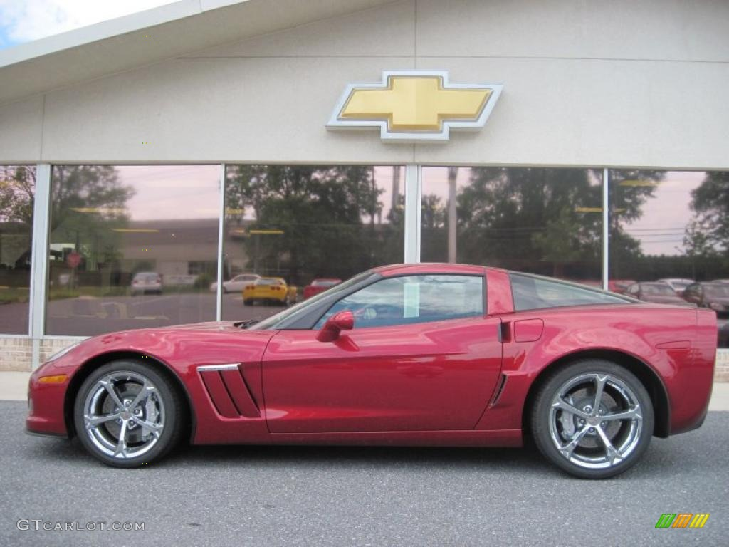 2010 crystal red metallic chevrolet corvette grand sport coupe 32269094 car. Black Bedroom Furniture Sets. Home Design Ideas