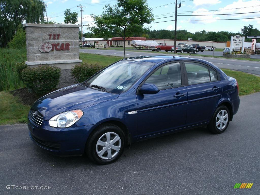 2007 Accent GLS Sedan - Dark Sapphire Blue / Gray photo #1