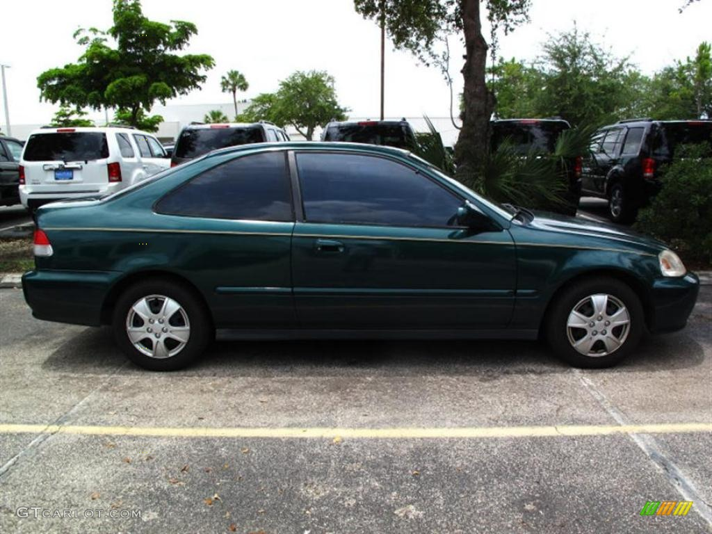 1999 clover green pearl honda civic ex coupe 32340663 photo 2 car color galleries. Black Bedroom Furniture Sets. Home Design Ideas