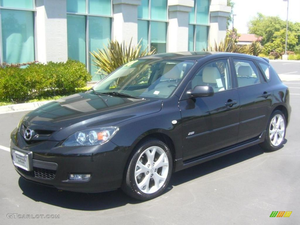 2008 black mica mazda mazda3 s grand touring hatchback. Black Bedroom Furniture Sets. Home Design Ideas