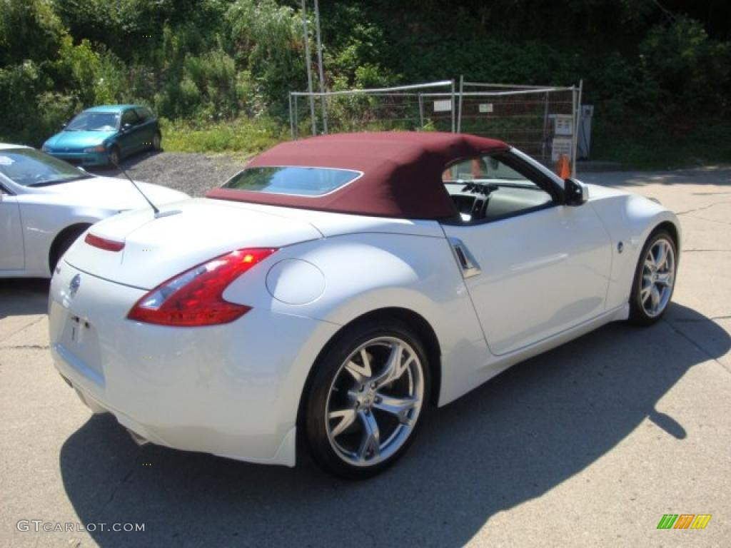 2010 pearl white nissan 370z touring roadster 32340850 photo 2 car color. Black Bedroom Furniture Sets. Home Design Ideas