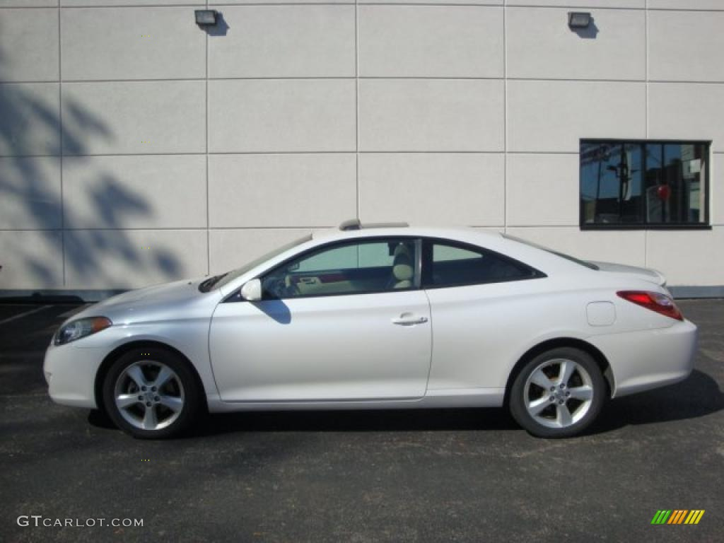 2005 arctic frost pearl white toyota solara se v6 coupe. Black Bedroom Furniture Sets. Home Design Ideas