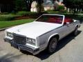White 1985 Cadillac Eldorado Biarritz Convertible