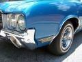 Medium Blue 1971 Oldsmobile Cutlass Supreme SX Convertible