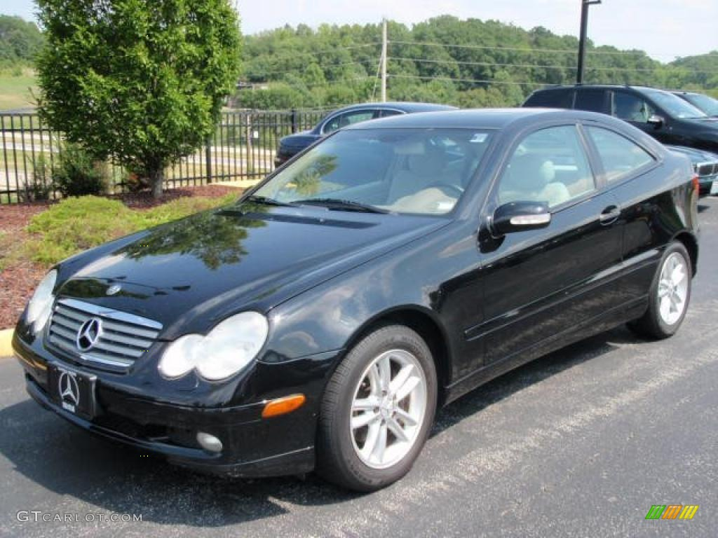 2002 black mercedes benz c 230 kompressor coupe 32391538 for Mercedes benz 2002 c230