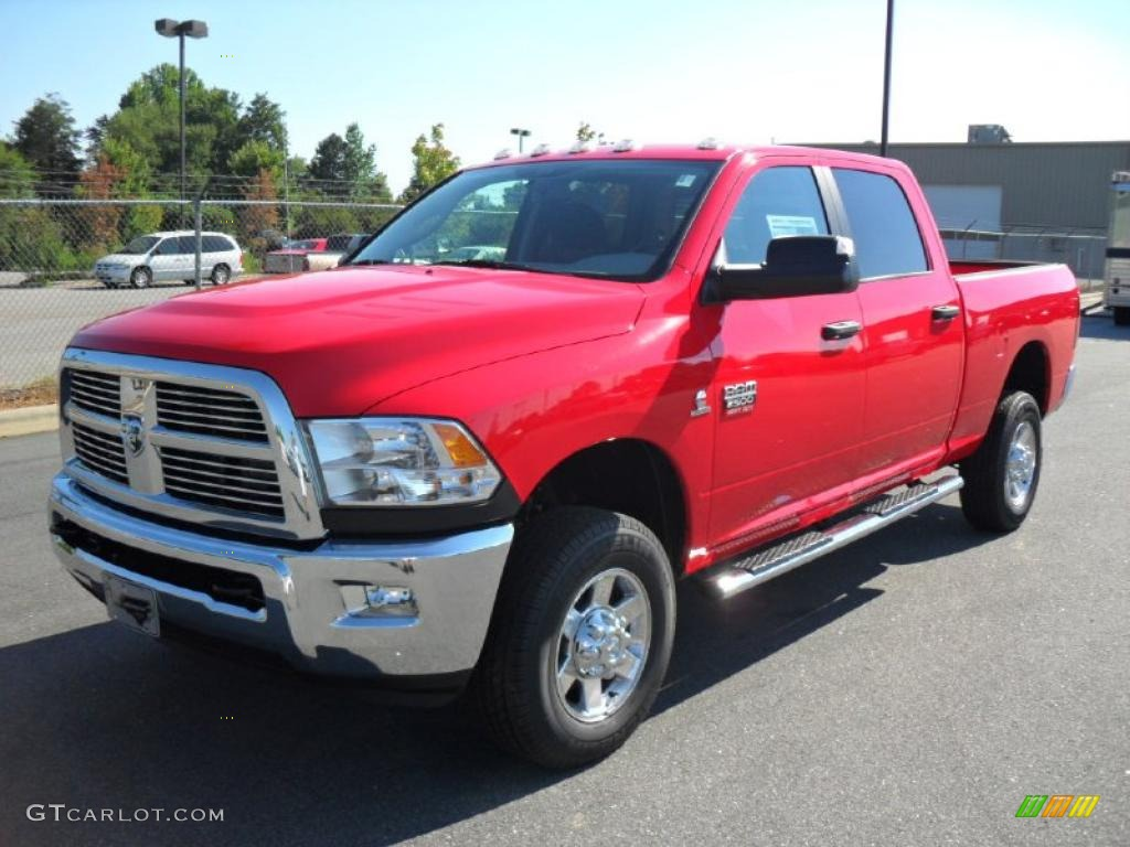 2010 Flame Red Dodge Ram 2500 Big Horn Edition Crew Cab ...