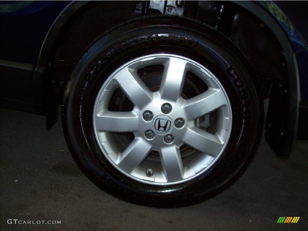 2008 CR-V EX-L 4WD - Royal Blue Pearl / Gray photo #9