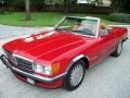 Signal Red 1985 Mercedes-Benz SL Class 380 SL Roadster