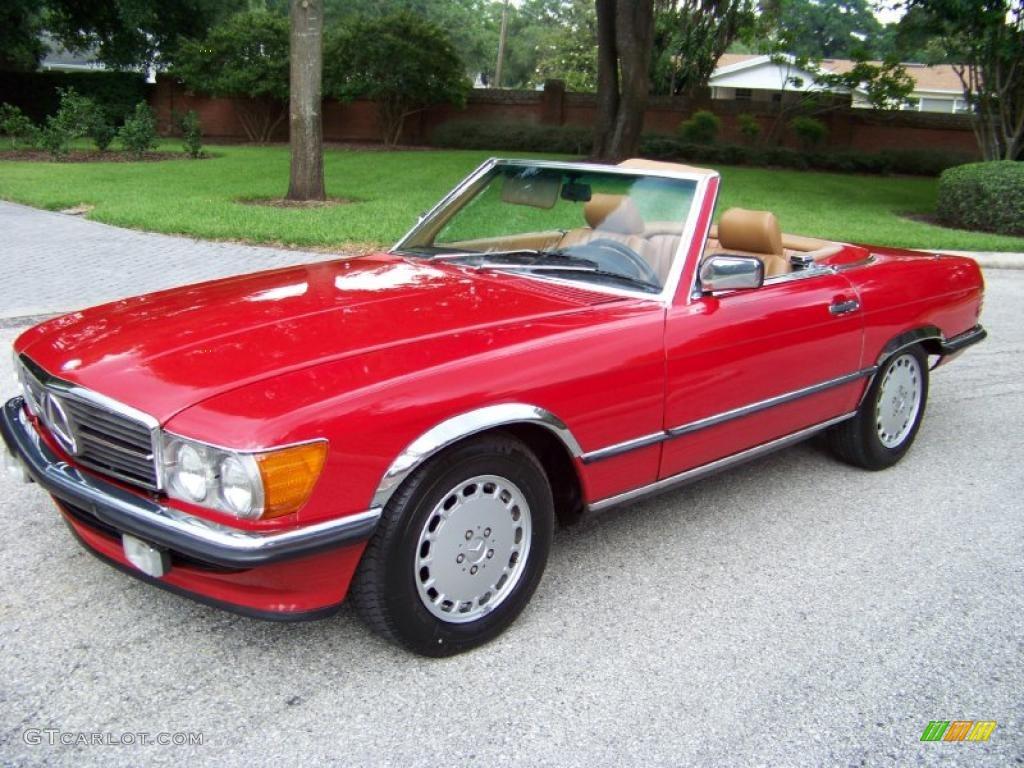 1985 signal red mercedes benz sl class 380 sl roadster. Black Bedroom Furniture Sets. Home Design Ideas