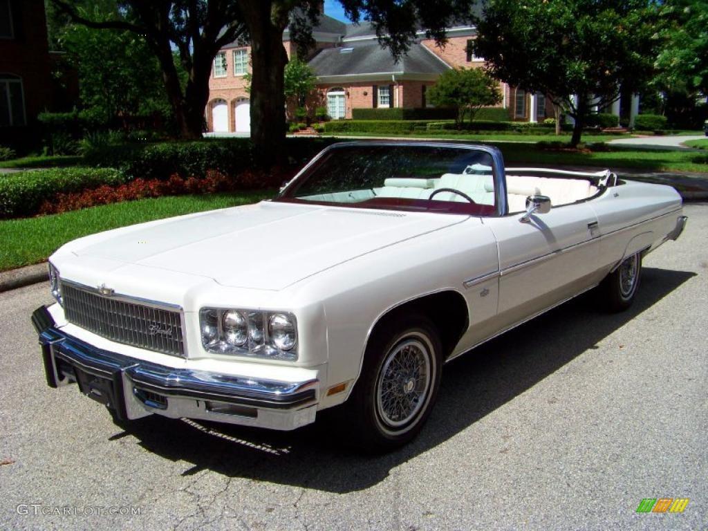 1975 White Chevrolet Caprice Classic Convertible 32391793  GTCarLot