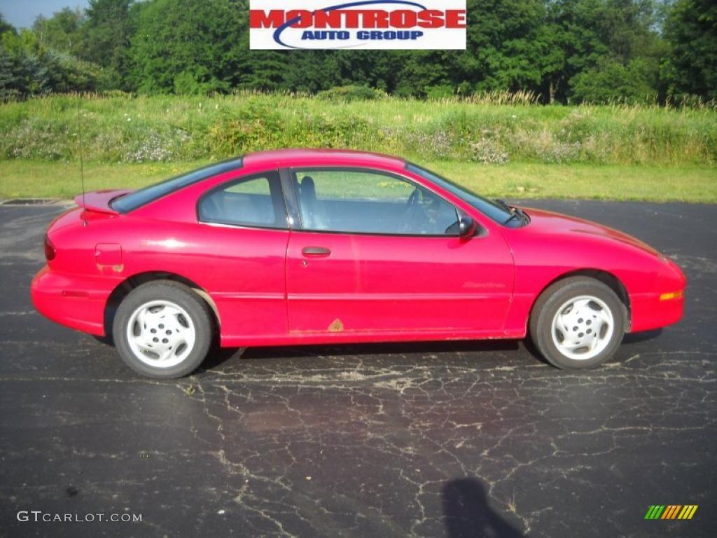 Bright Red Pontiac Sunfire