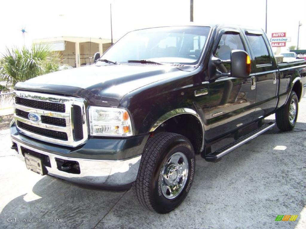2006 dark green satin metallic ford f250 super duty xlt. Black Bedroom Furniture Sets. Home Design Ideas