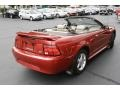 2001 Laser Red Metallic Ford Mustang V6 Convertible  photo #5
