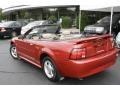 2001 Laser Red Metallic Ford Mustang V6 Convertible  photo #8