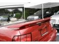 2001 Laser Red Metallic Ford Mustang V6 Convertible  photo #10