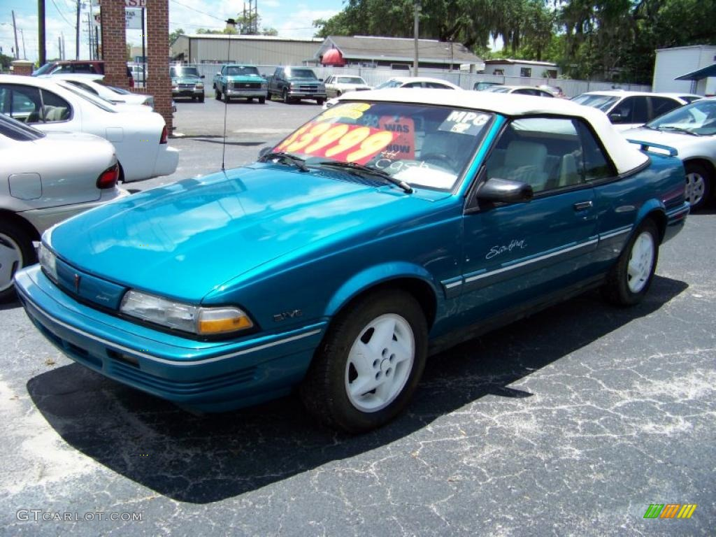 1994 sunbird le convertible brilliant blue metallic white photo 3