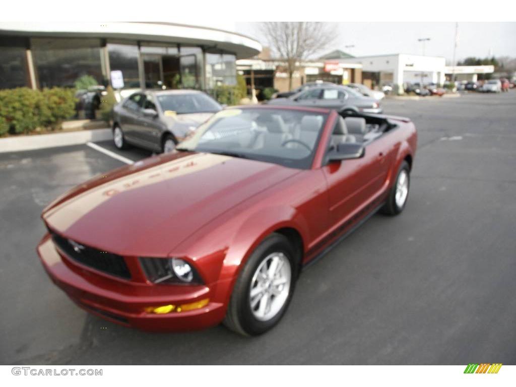 2007 Mustang V6 Premium Convertible - Redfire Metallic / Light Graphite photo #1