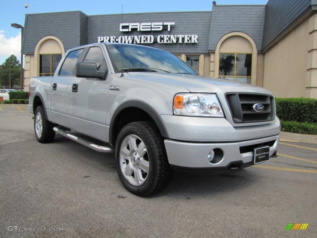 2007 f150 fx4 supercrew 4x4 silver metallic black medium flint photo 1