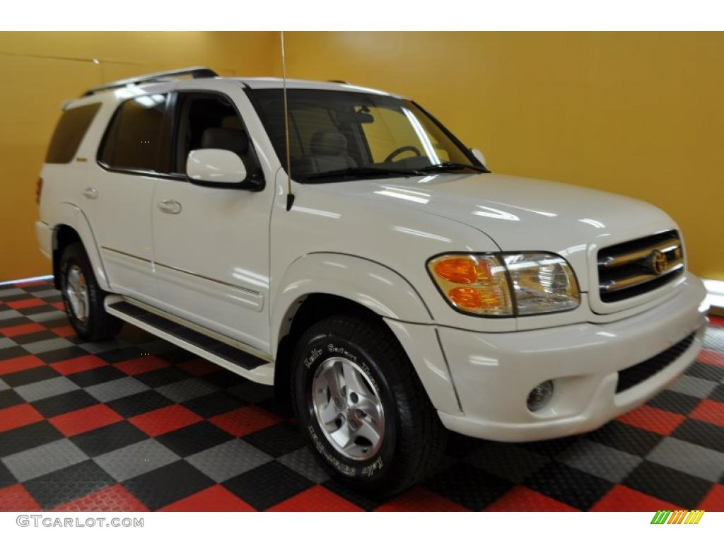 2002 natural white toyota sequoia limited 4wd 32535190 gtcarlot com car color galleries gtcarlot com