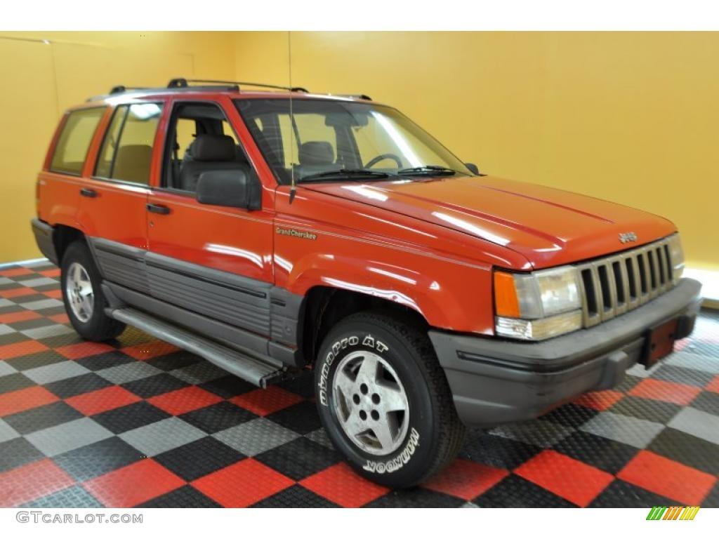 1997 flame red jeep grand cherokee laredo 4x4 32535194 gtcarlot com