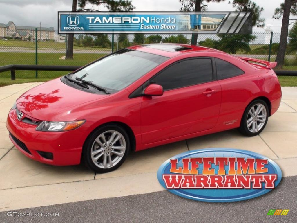 2007 rallye red honda civic si coupe 32535414 car color galleries. Black Bedroom Furniture Sets. Home Design Ideas