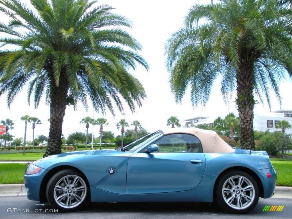 2003 maldives blue metallic bmw z4 3.0i roadster #32534662