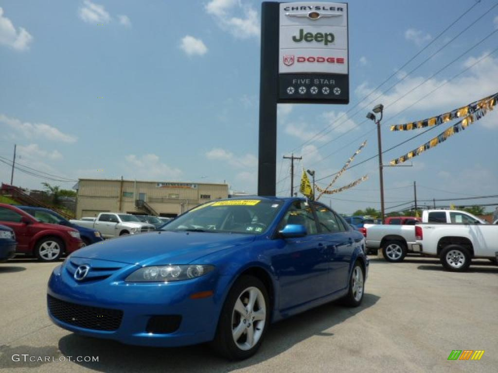 2007 MAZDA6 i Touring Hatchback - Bright Island Blue Metallic / Black photo #1