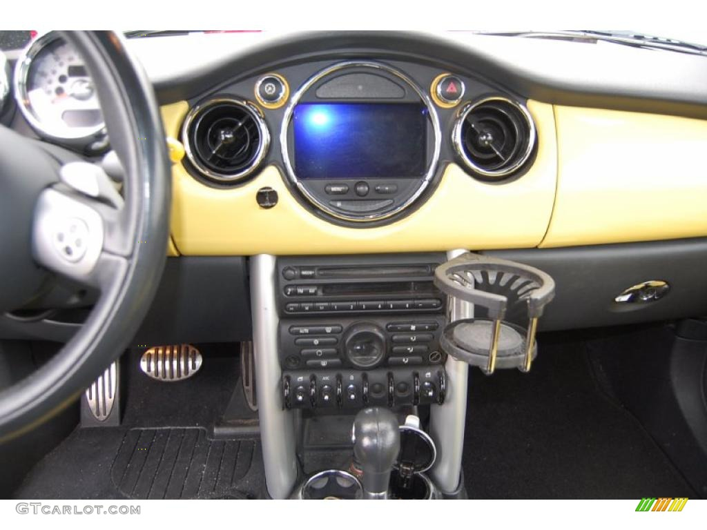 2005 Cooper S Convertible Liquid Yellow Black Photo 5