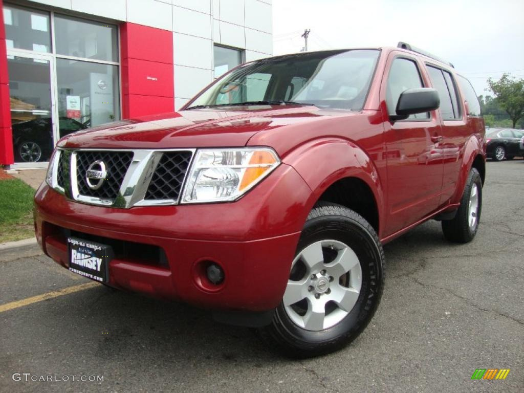 2007 red brawn nissan pathfinder s 4x4 32603971. Black Bedroom Furniture Sets. Home Design Ideas