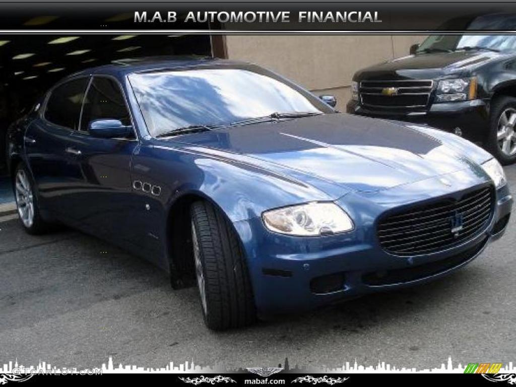 2005 medium blue metallic maserati quattroporte 32604527. Black Bedroom Furniture Sets. Home Design Ideas