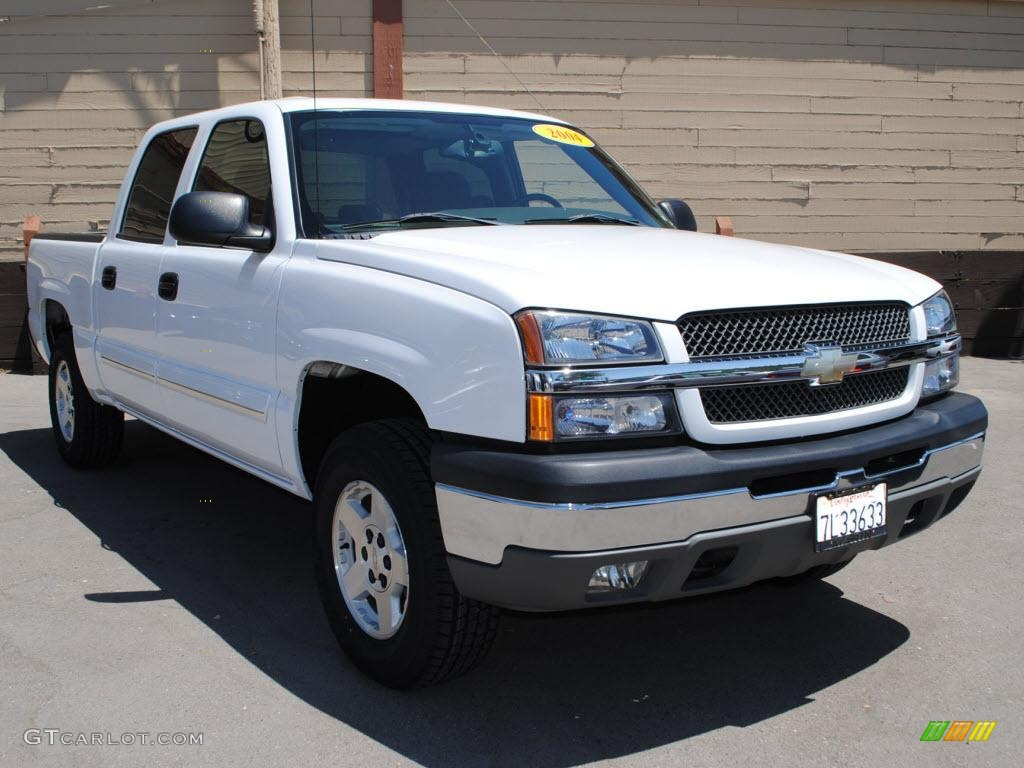 2004 summit white chevrolet silverado 1500 ls crew cab 4x4 32683063 car color. Black Bedroom Furniture Sets. Home Design Ideas