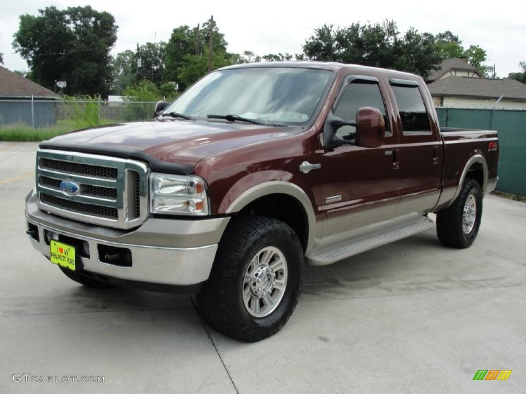 2005 dark copper metallic ford f250 super duty king ranch fx4 crew cab 4x4 32682414 photo 7. Black Bedroom Furniture Sets. Home Design Ideas