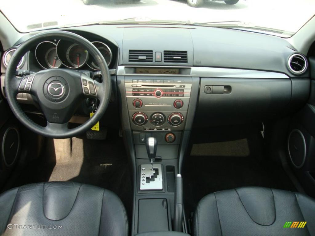 2007 mazda mazda3 s grand touring sedan black dashboard photo 32786011. Black Bedroom Furniture Sets. Home Design Ideas