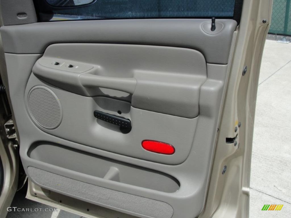 2002 Ram 1500 SLT Quad Cab - Light Almond Pearl / Taupe photo #18