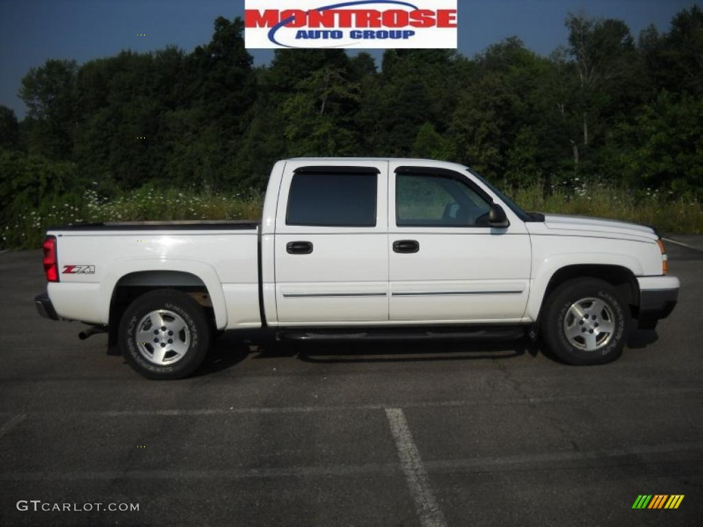 2006 summit white chevrolet silverado 1500 z71 crew cab 4x4 32682902 car color. Black Bedroom Furniture Sets. Home Design Ideas