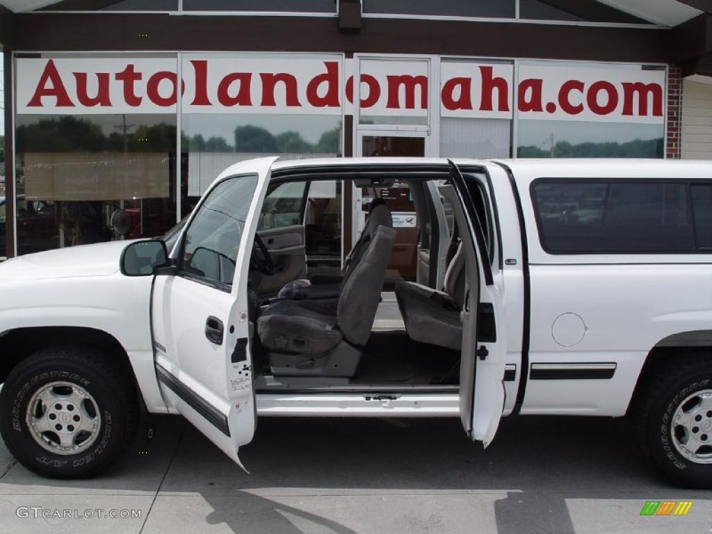 2000 Silverado 1500 LS Extended Cab 4x4 - Summit White / Medium Gray photo #6
