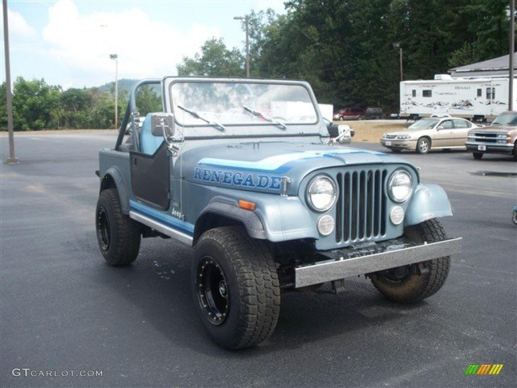 1982 slate blue metallic jeep cj7 renegade 4x4 32846674 photo 5 car color. Black Bedroom Furniture Sets. Home Design Ideas