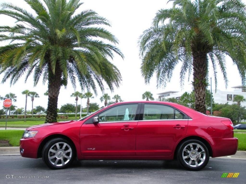 2008 MKZ Sedan - Vivid Red Metallic / Sand photo #1