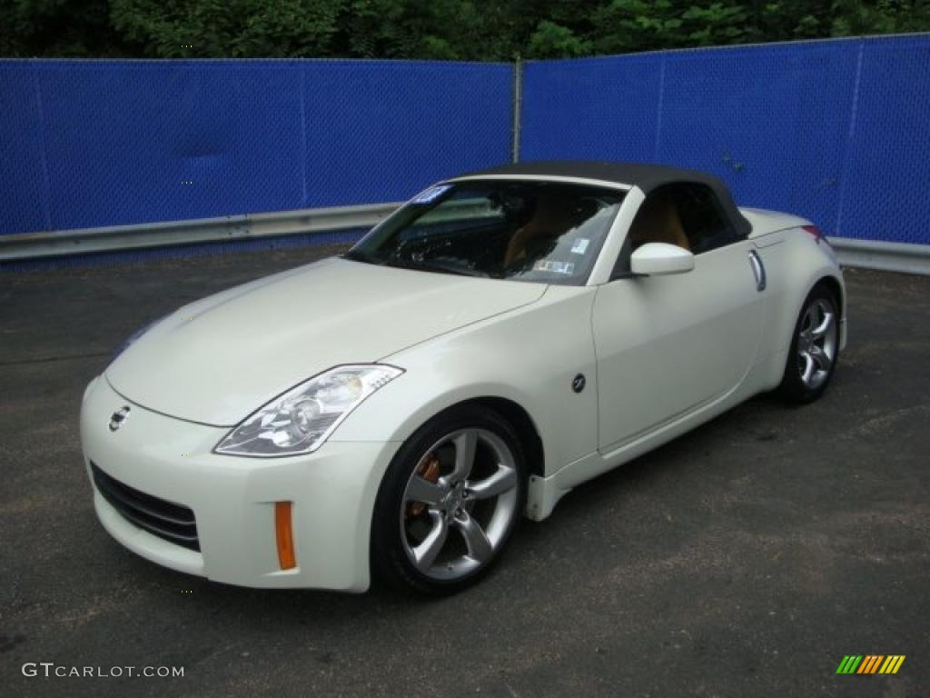 2007 Pikes Peak White Pearl Nissan 350z Grand Touring Roadster 32856401 Gtcarlot Com Car Color Galleries