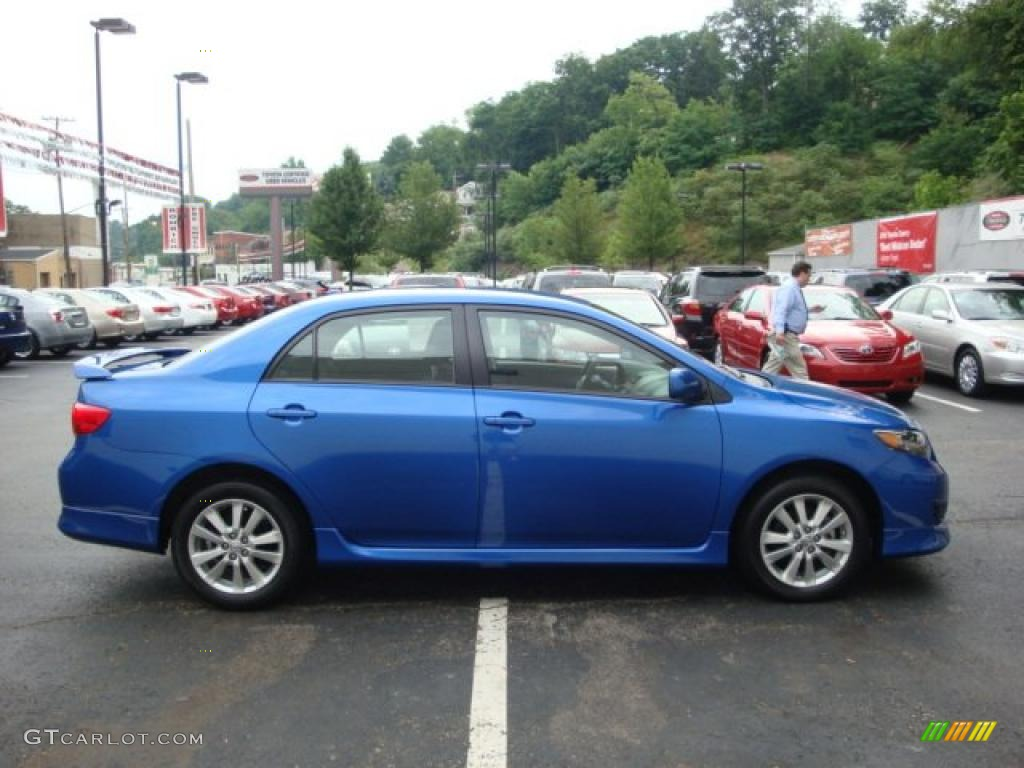 2009 blue streak metallic toyota corolla s 32856490 photo
