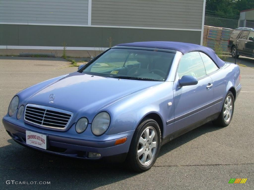1999 quartz blue metallic mercedes benz clk 320 convertible 32855871 photo 4. Black Bedroom Furniture Sets. Home Design Ideas